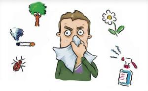 признаки аллергического насморка