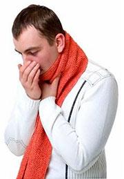 сильный мокрый кашель