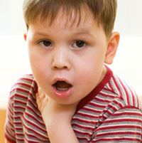 красное горло у ребенка фото